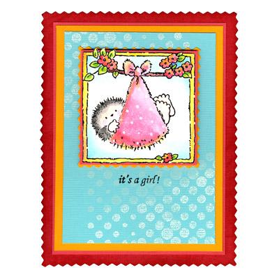 Penny Black Clear Stamps BUNDLE OF JOY Hedgy Hedgehog