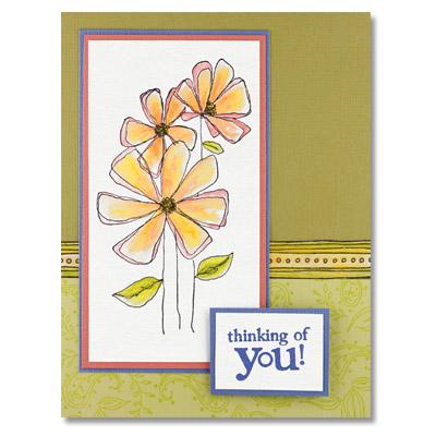 Penny Black Rubber Stamp 3865k GOSSAMER Flower