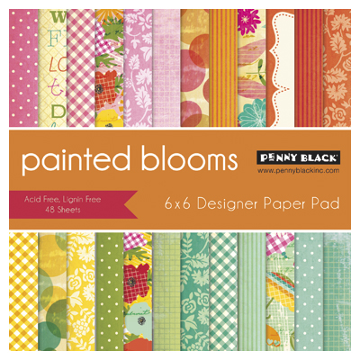 Penny Black Painted Blooms Paper Pad